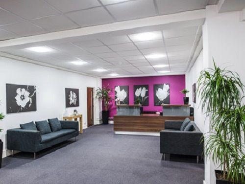Managed office space London Grosvenor Garden reception