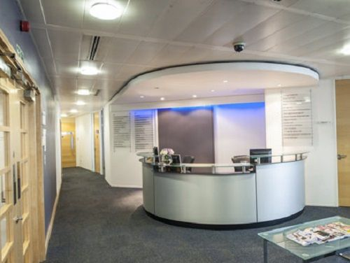 Offices to lease London Bressenden Place reception