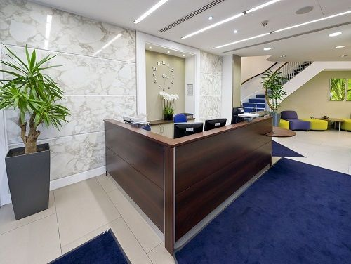 Flexible office space London Southampton Row reception