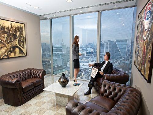 Flexible office space London Dashwood - Waiting Area