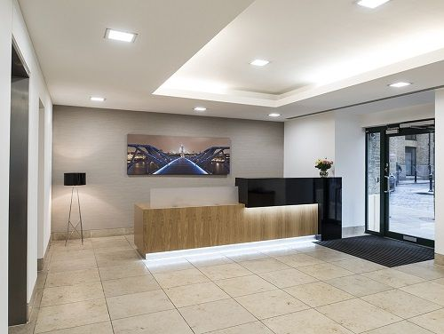 Managed office space London reception