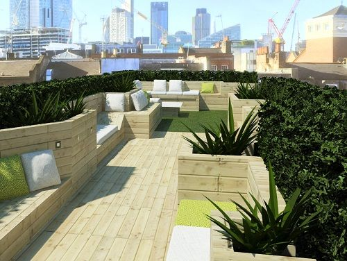 Office space Central London roof terrace