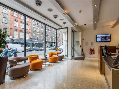 Office space Central London Waiting Area