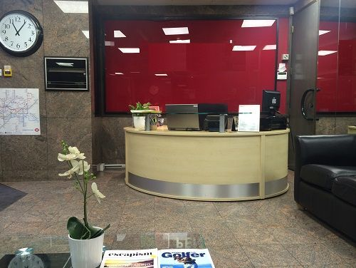 Central London offices Reception
