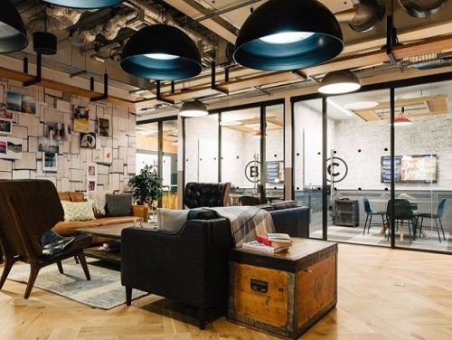 London serviced office space work area