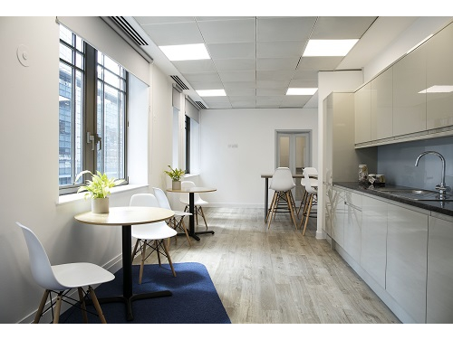 Serviced offices in London City kitchen
