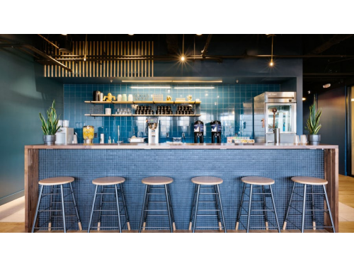WeWork Kitchen Area Example