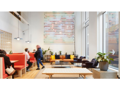 WeWork Lounge Area Example