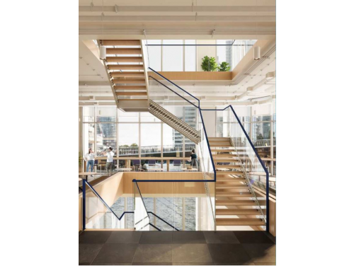 WeWork Canary Wharf Staircase